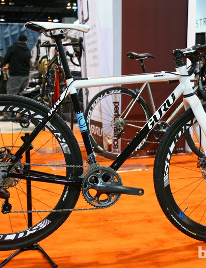 Guru augmented its standard Sidero CX steel cyclocross bike with disc tabs front and rear - plus this beautiful paint job