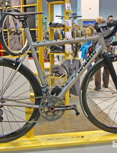 Mosaic builds a wide range of bikes but most of the machines in the NAHBS booth were of the performance variety
