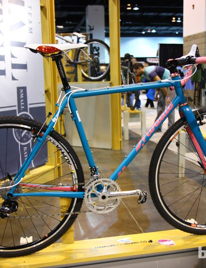 Mosaic builds mostly titanium frames but steel is in Aaron Barcheck's repertoire, too, as evidenced by this 'cross bike