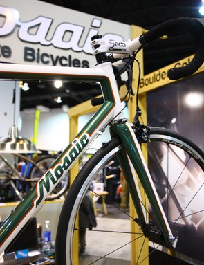 This Mosaic titanium bike looks particulary good with paint