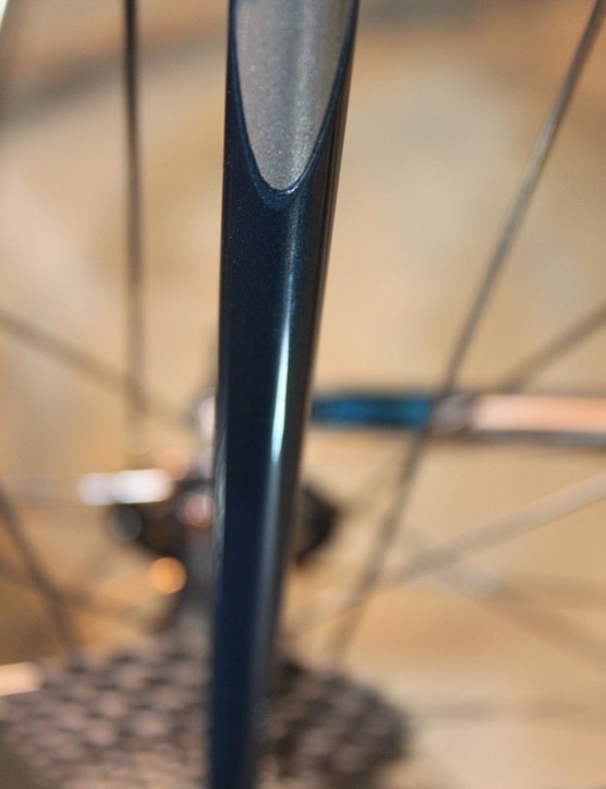 The seatstays are also sleeved