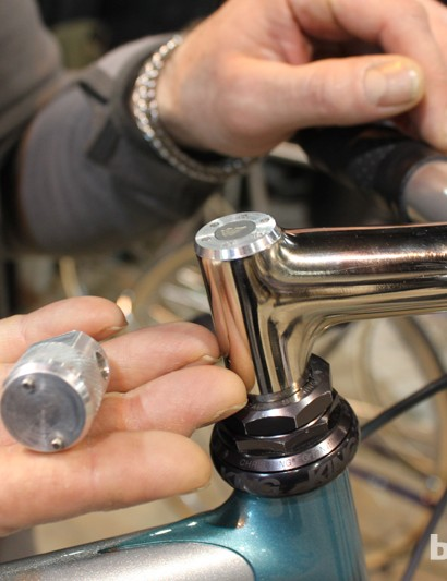 A spanner will work, but a custom tool to go with the custom stem is what separates the men from the boys