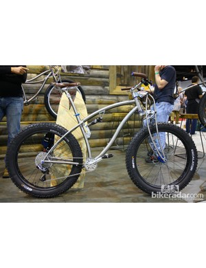 Black Sheep unveiled this full-suspension snow bike at NAHBS