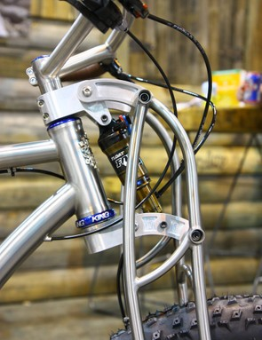 Black Sheep machined the aluminum shock mounts and links in-house