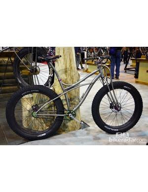 Black Sheep built this snow bike around 45NRTH's massive 4