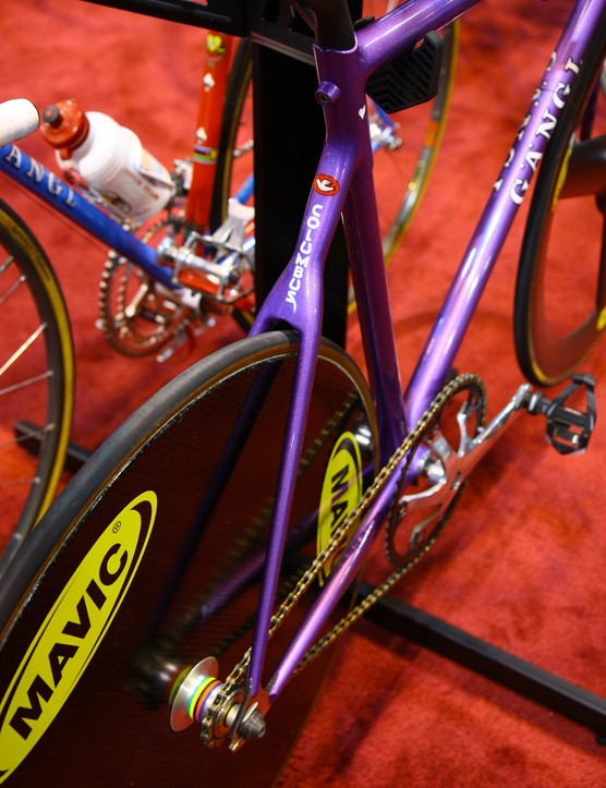 Two guesses at which brand of tubing Rich Gängl used on this track bike