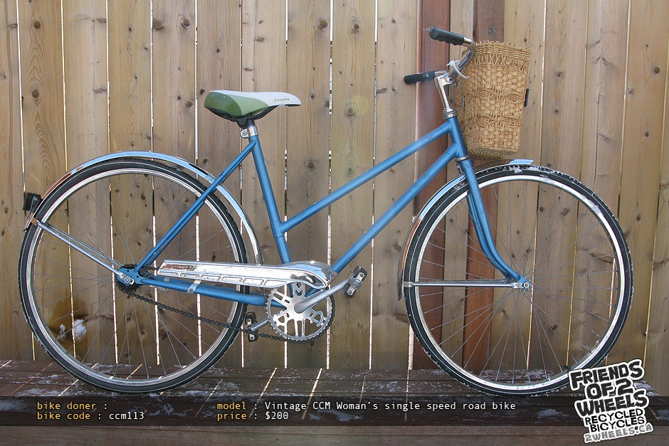 An example of a recycled bike