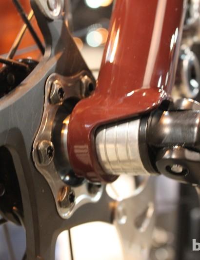 The rigid fork has a 15mm thru-axle