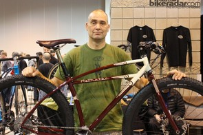 Inglis with his winning bike