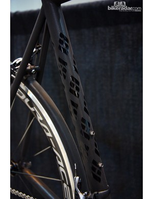 Neat graphic work on Bill Walton's Holland Cycles titanium road bike