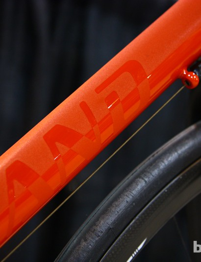 Check out the neat paintwork on this Holland Cycles road bike