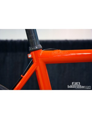 Unless a customer requests a separate collar, Holland Cycles builds its bikes with a welded binder