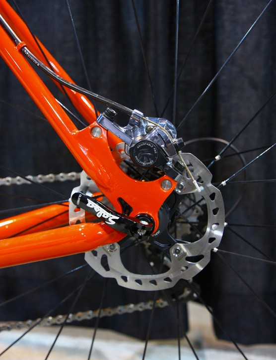 Paragon disc dropouts on this Holland Cycles road bike