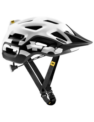 The Notch lid uses a lighter version of Mavic's road helmet retention system