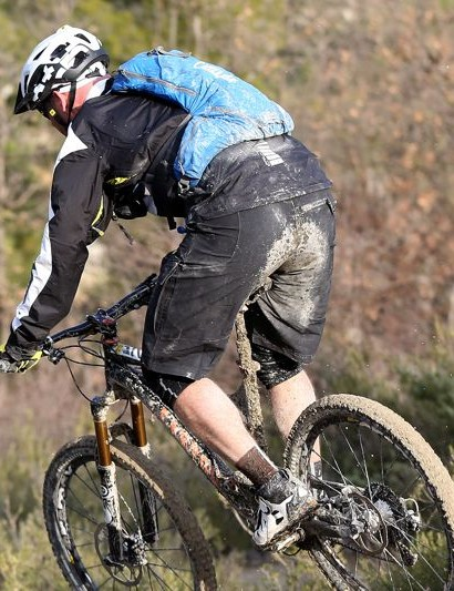 The material of the Notch shorts did a good job of keeping the mud and rain from soaking through