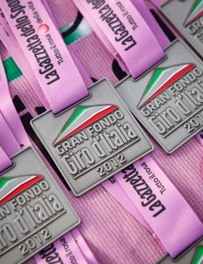Finishers medals from the 2012 series