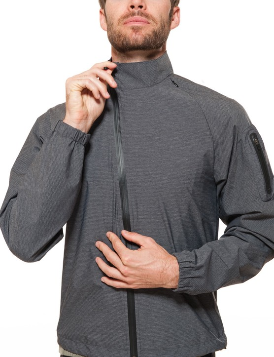 The off-center zip is becoming quite the trend on cycling jackets