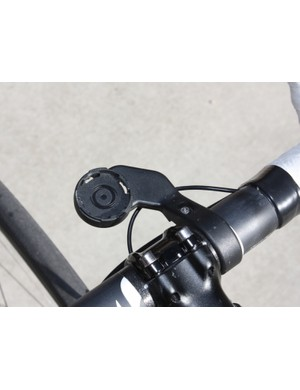 The out-front mount is secure but not super rigid