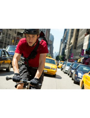 Action from cycle courier movie Premium Rush