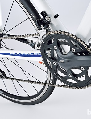 Shimano's 105 compact matched to a 12-28 cassette is ideal all-rounder gearing