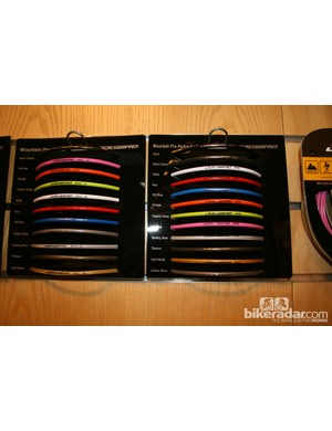 A wide range of colours from Jagwire to help you colour coordinate your bikes.