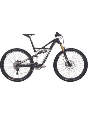 The S-Works model sports XX1 along with a Fox TALAS 34 fork and Cane Creek DB Air shock