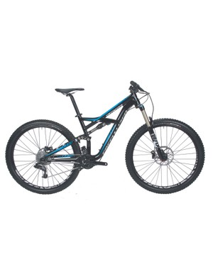 The comp model is also available in black/cyan and is constructed entirely of Specialized's M5 aluminum