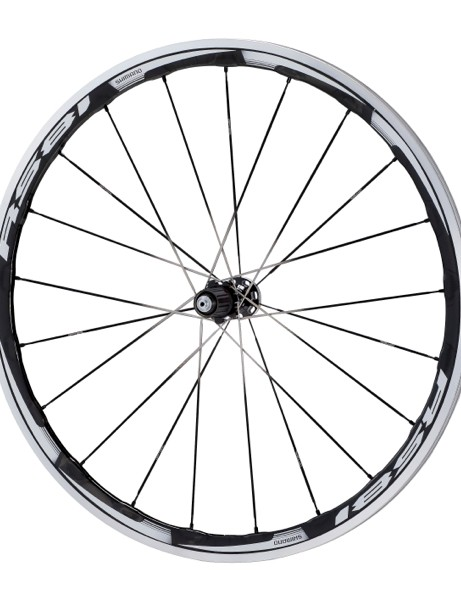 The RS81 with Dura-Ace level C35 carbon/alloy rim