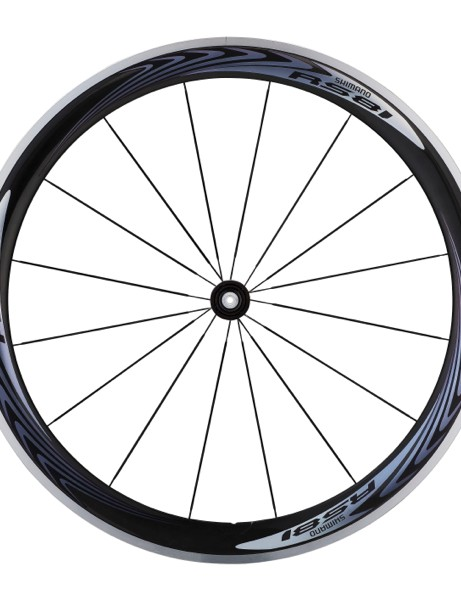 The RS81 with Dura-Ace level C50 carbon/alloy rim