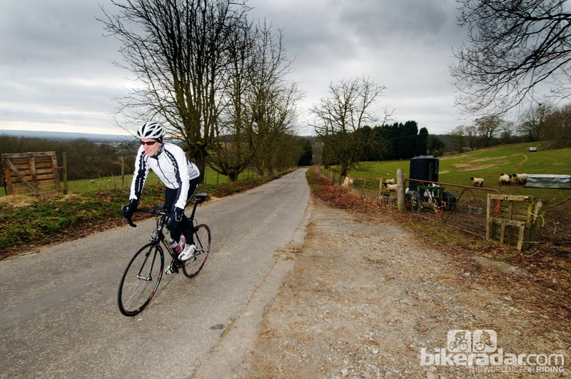 The frequency of cycling-related accidents on country roads in Britain is high