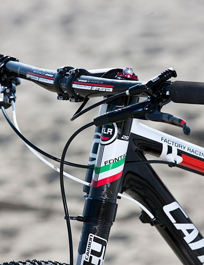 Red, white and green highlights are part of the Italian national champion's paint job