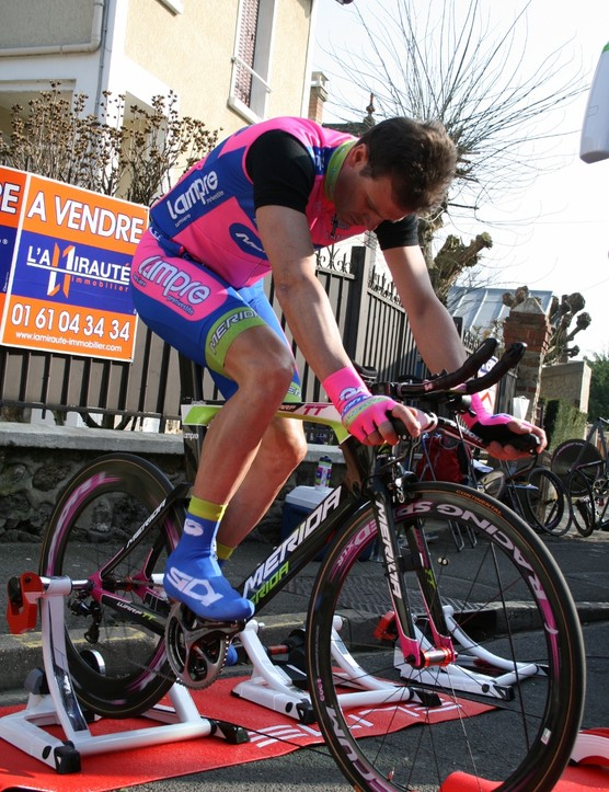 There's been a colour explosion at Lampre-Merida this year – the bike-maker's lime green meets the metal-maker's blue and fuchsia
