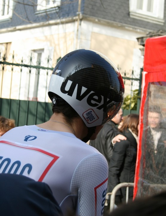 Warren Barguil of Argos-Shimano was wearing the Uvex Race 4 – new for this season on the team