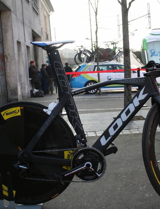 The bike that cut a dash over at Cofidis was Rein Taaramäe's all-French Look 596, complete with Cosmic wheels from Mavic, new suppliers to the team