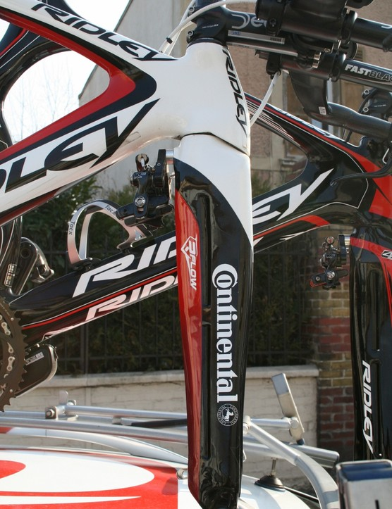 The Ridley Dean has been around for a while now, and we're expecting a refresh before the Tour, but the current bike's front end still looks as aggressive as anything out there