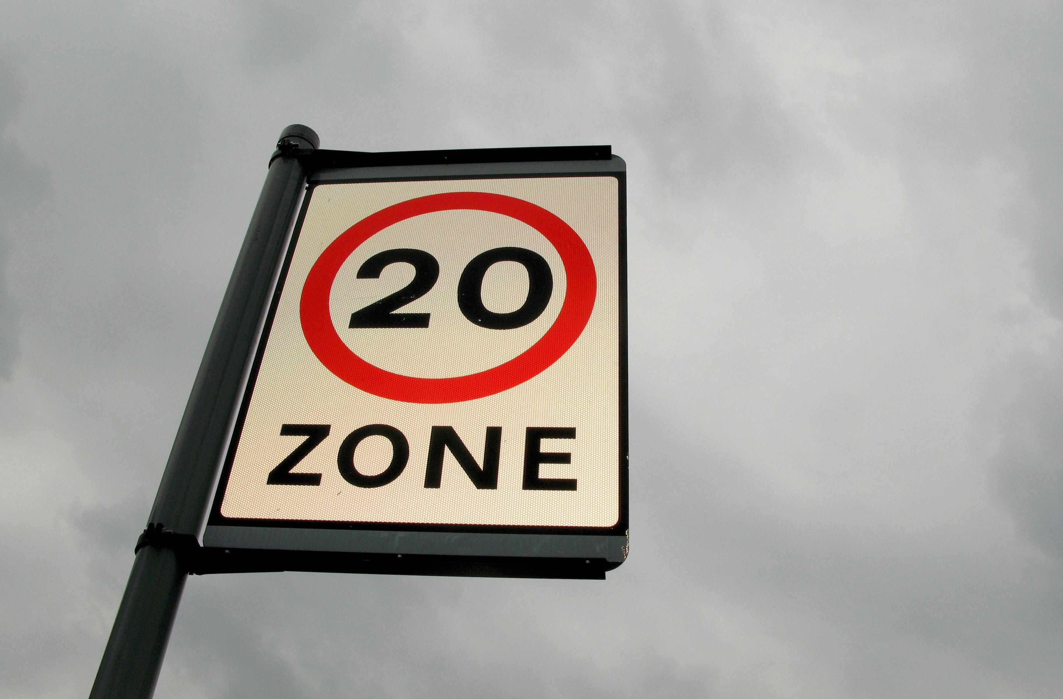 20mph zones are not being actively enforced by the police