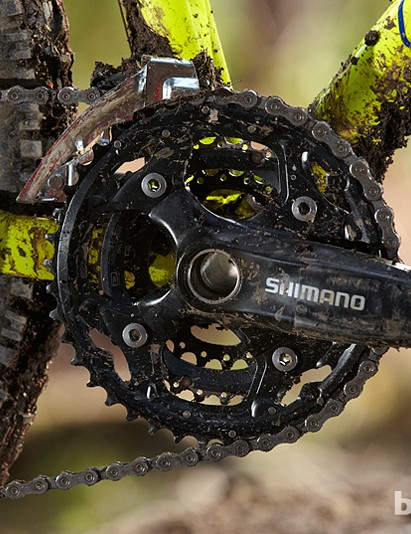 The Shimano M552 chainset is disappointing considering the price