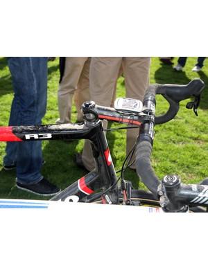Johan Van Summeren's Paris-Roubaix winning  R3 has a decent sized head tube