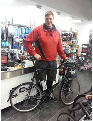 PC Anthony Wallyn's custom built Bob Jackson frame  from Cycle Surgery