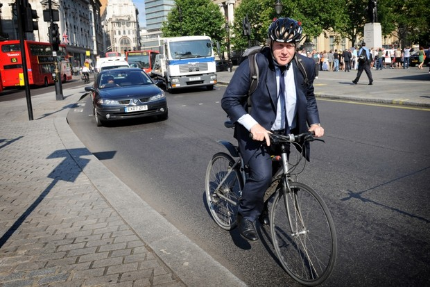 Boris Johnson, London Mayor and cyclist
