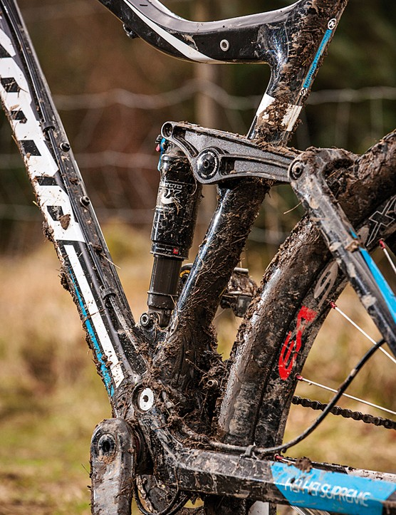 The adjustable Fox Climb Trail Descend shock provides plenty of control