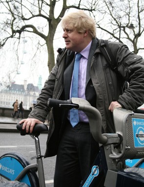 Boris Johnson at the launch of the cycling vision for London