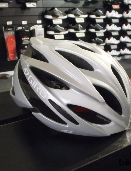The Savant is the new women's racing helmet from the Giro. Numerous vents should help keep the head cool