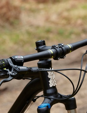 A 680mm own-brand flat bar meets an 80mm stem