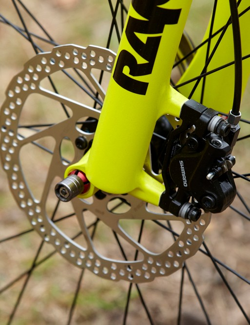 Shimano 's BR-395 hydraulic discs are hard to fault for the price