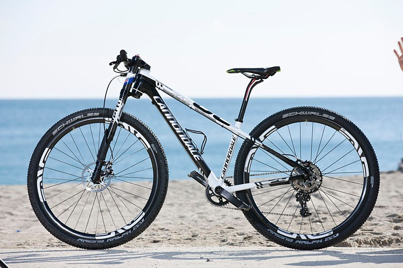 Anton Cooper (Cannondale Factory Racing) is racing on a size small Cannondale F29 for 2013