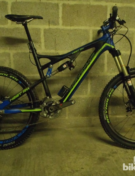 The Heet RX comes with a high-end spec including E.I shock, Reynolds carbon wheels and an XX groupset