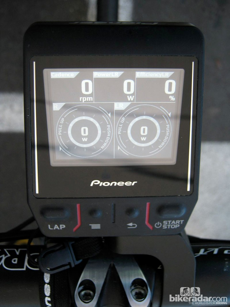 This screen shows not only the magnitude of a rider's power output but also the direction