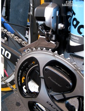 While the features of Pioneer's new power meter are appealing, we're a bit disappointed in the transmitter's bulkiness
