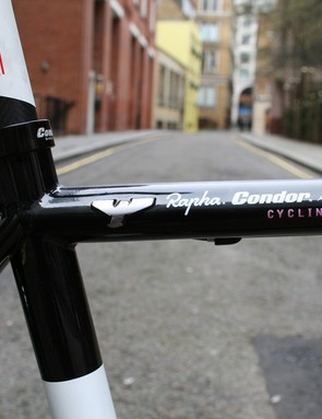 There's a braised on Condor logo on the top tube